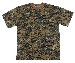 US T-Shirt, halbarm, digital- woodland, 170g/m²