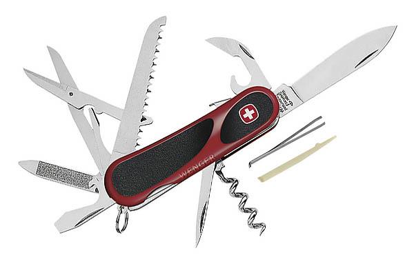 Wenger EvoGrip S17, Schweizer Taschenmesser, 15 Funktionen