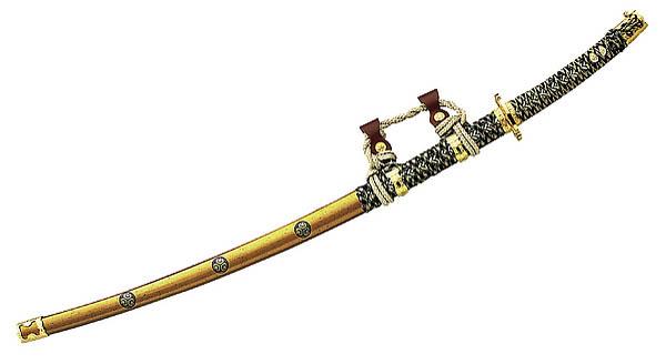 Samurai Parade-Luxus-Schwert, AISI 420 Stahl, goldfarbene Scheide
