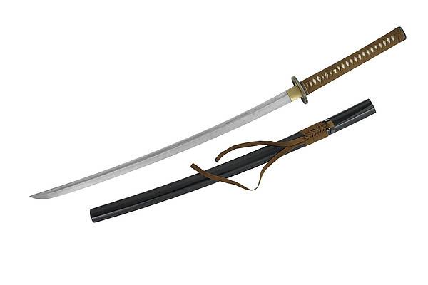 Samurai-Schwert Katana, mit Pflegeset, Holzbox