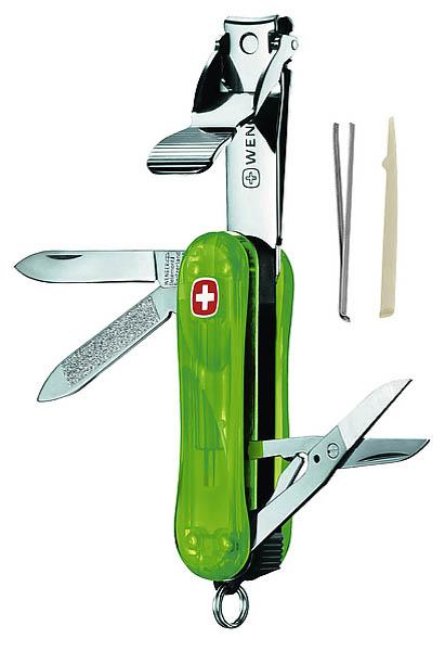 Wenger Nagelknipser Evolution, 6-teilig, transparent grün