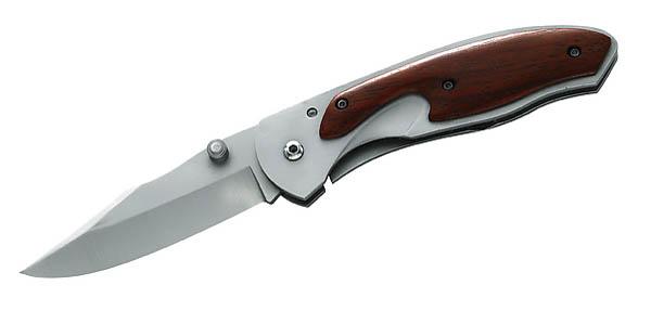 Herbertz Einhandmesser, AISI 420, Sandelholz, Frame Lock
