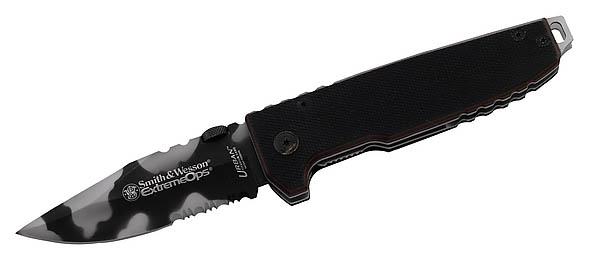 Smith & Wesson Einhandmesser, Extreme Ops, Stahl 440 C, G-10-Schalen