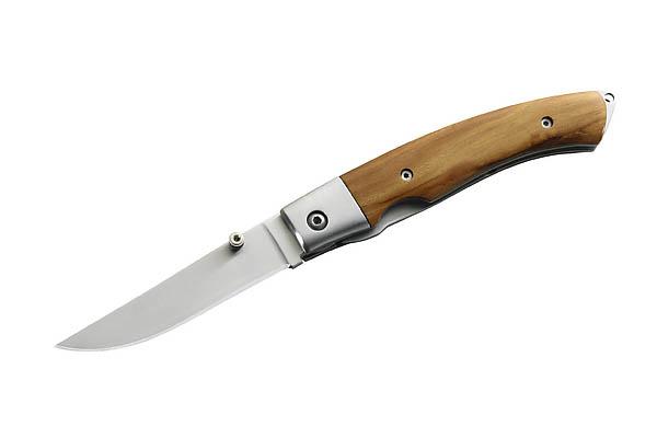 Herbertz Einhandmesser, AISI 420, Holzschalen