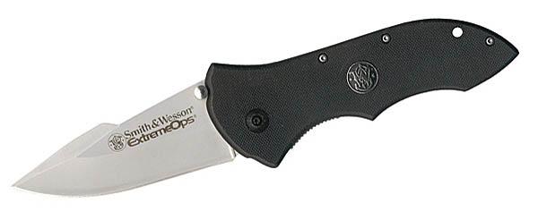 Smith and Wesson Einhandmesser, G-10 Schalen, Gürtelclip