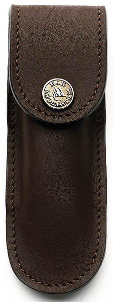 Messer-Etui, braunes Leder, Gürtelschlaufe, für Messer mit Heftlänge 11 cm