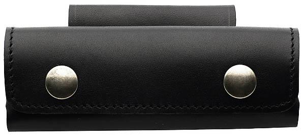 Lederetui, schwarz, für Heftlänge bis 13 cm, quer