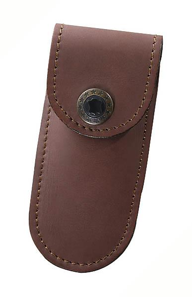 Braunes Leder-Etui, für Messer mit Heftlänge 9 cm
