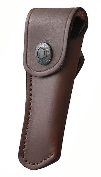 Braunes Leder-Etui, für Messer mit 9 cm Heftlänge, Gürtelschlaufe