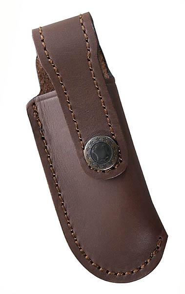 Braunes Leder-Etui, mit Gürtelschlaufe, für Messer mit 10 cm Heftlänge
