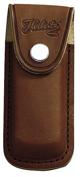 Messer-Etui, braunes Leder, eingeschnittene Gürtelschlaufe, für Messer mit 11 cm Heftlänge