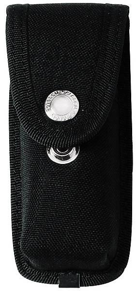 Messer-Etui aus Cordura, schwarz, 2 Druckknöpfe, mit Gürtelschlaufe