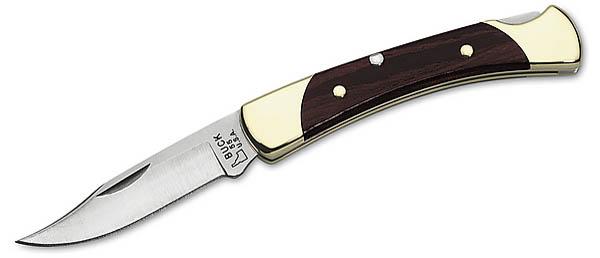 Buck Taschenmesser, 420HC, Messingbacken, Holzgriffschalen