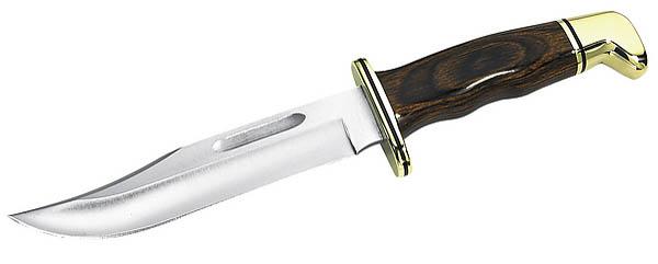 Buck Special, 420HC-Stahl, Cocobolo-Holzgriff, Messingbeschläge, Lederscheide