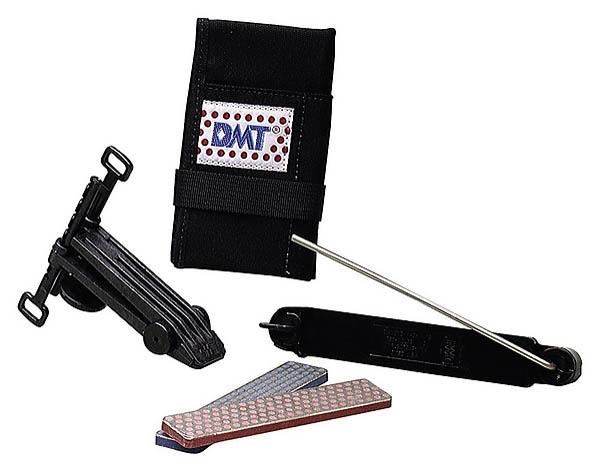 DMT-Diamant Schärf-Kit, Körnung extrafein und fein, inkl. Klammer und Führungsstäben, Nylontasche