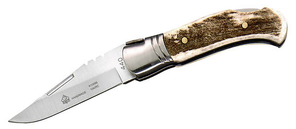 Puma IP Taschenmesser, Laguiole-Stil, Stahl 440 C, Hirschhornschalen
