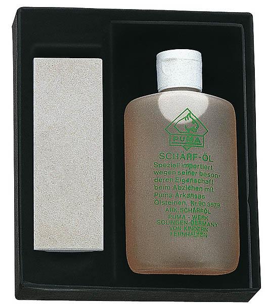 Puma Schärfset, Arkansas-Ölstein, 100 ml Schärföl