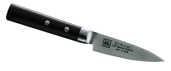 Japanisches Kochmesser, Schälmesser, 33 Lagen Damast, Pakkaholz