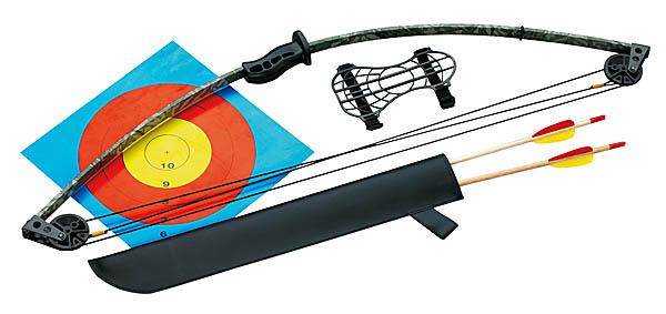 Jugend-Bogenset, inkl. Köcher, 2 Pfeile und Armschutz