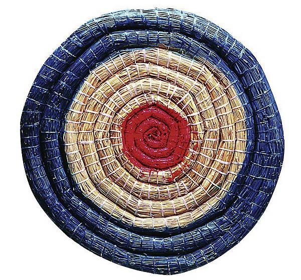 Strohzielscheibe, Durchmesser 65 cm, 6 cm dick