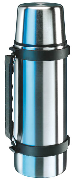 Isosteel Edelstahl-Isolierflasche, 0.75 l, mit Tragegriff, Quickstop-Ausgießsystem