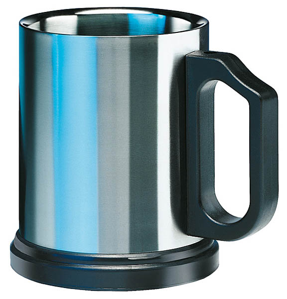 Isosteel Trinkbecher, doppelwandiger Edelstahl, 0.4 Liter
