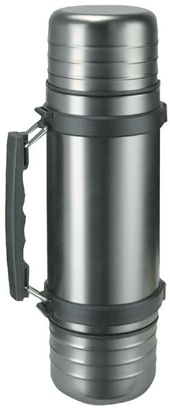 Isosteel Edelstahl-Isolierflasche, 1.0 l, mit Tragegriff Quickstop-Ausgießsystem
