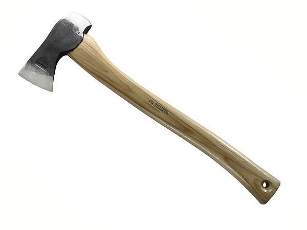 Wetterlings Jagdbeil, schwedischer Stahl, Hickory-Holz