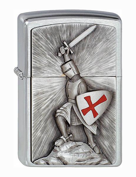 Zippo Feuerzeug, Motiv siegender Kreuzritter