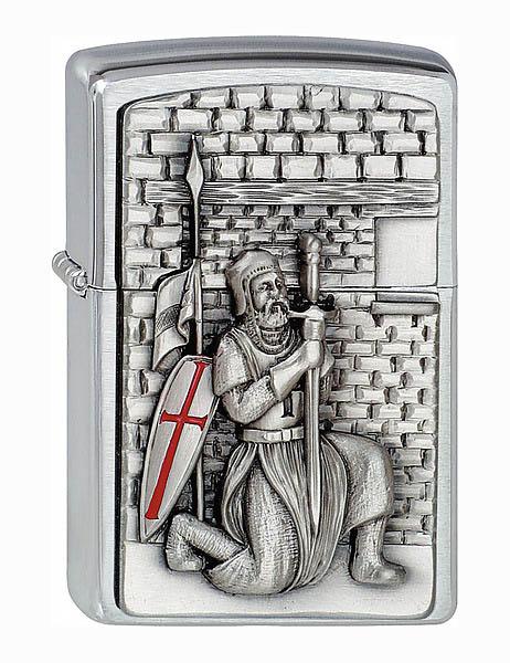 Zippo Feuerzeug, Motiv Kreuzritter mit Schwert