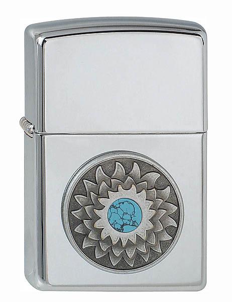 Zippo Feuerzeug, Modell Turquoise Shield