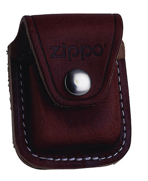 Zippo Etui, braun, mit Clip