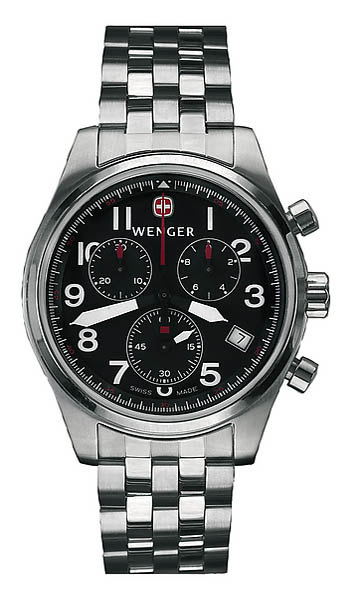 Wenger Swiss Watch, Modell Airforce XL, Chronograph, Stahlband