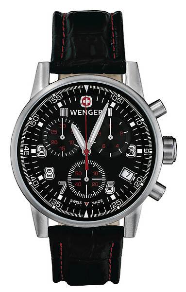 Wenger Swiss Watch Commando, Chronograph, Lederband
