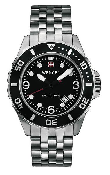 Wenger Swiss Watch, Modell Sea Force Diver, wasserdicht bis 1000 m