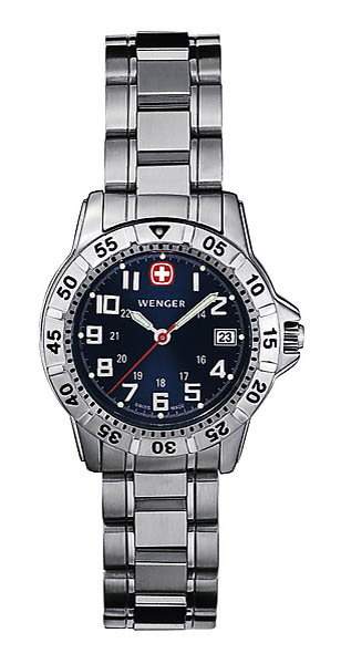 Wenger Swiss Watch, Modell Mountaineer, Stahlband