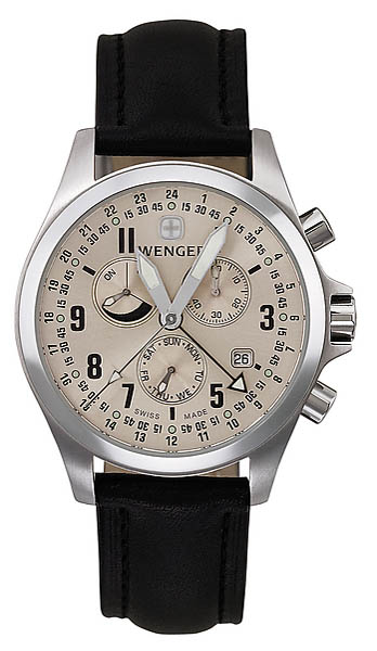 Wenger Swiss Watch, Field Force Traveller, Lederband