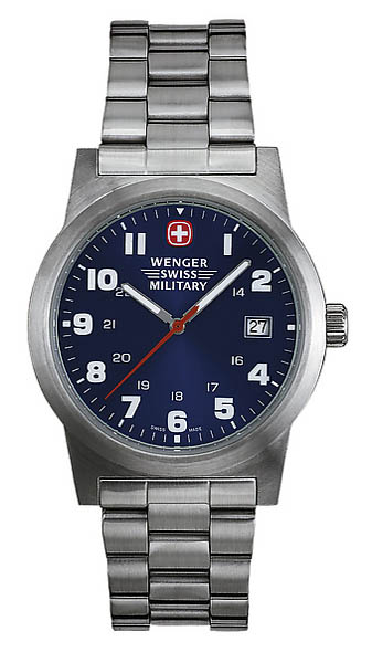 Wenger Swiss Military Uhr, Field Classic, mit Edelstahl-Armband