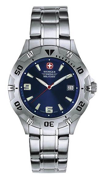 Wenger Swiss Military Uhr, Sea Blue Marlin, mit Edelstahl-Armband