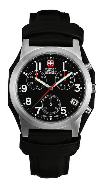 Wenger Swiss Military Uhr, Field Grenadie, mit Lederarmband und Unterleder
