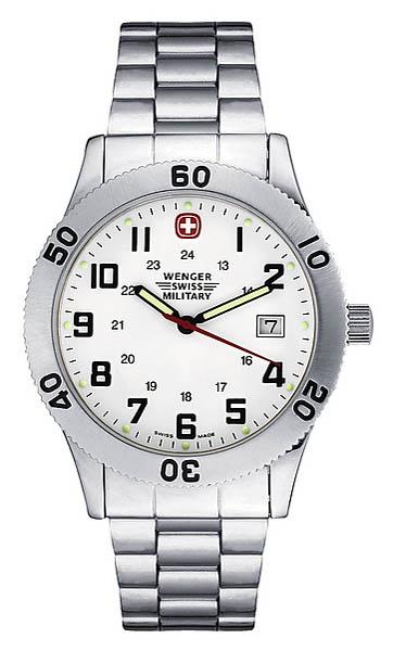 Wenger Swiss Military Uhr, Field Grenadie, mit Edelstahl-Armband