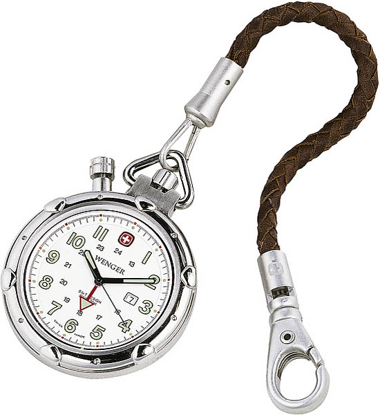 army shop wenger uhr alert pocket watch mit lederetui. Black Bedroom Furniture Sets. Home Design Ideas