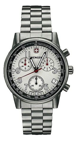 Wenger Swiss Watch, Modell Commando, Edelstahlband