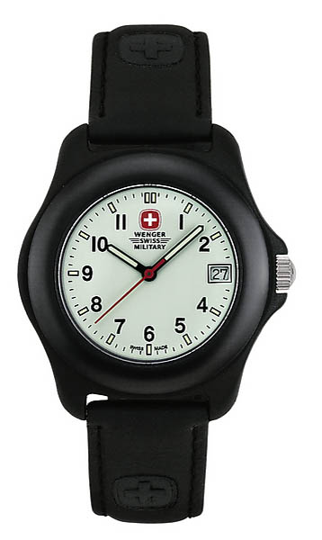 army shop wenger swiss military uhr mit lederarmband. Black Bedroom Furniture Sets. Home Design Ideas