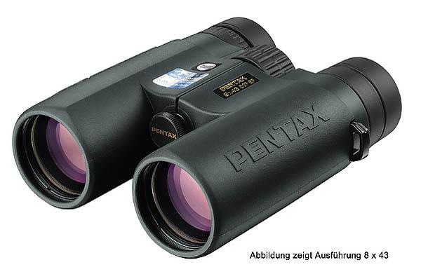 Pentax-Fernglas DCF SP 8x32, Regenschutzdeckel, Nylon-Tragegurt, Aufbewahrungstasche aus Nylon