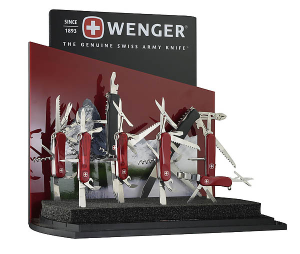 Wenger Display, rot