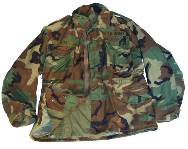 Original U.S M65 Jacke ohne Abzeichen, gebraucht