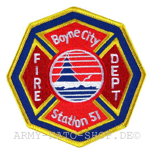 US Abzeichen Firefighter - Boyne City Station 51