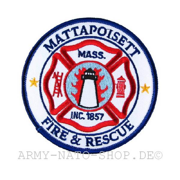 US Abzeichen Firefighter - Mattapoisett 1857