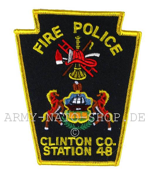 US Feuerwehr Abzeichen - Clinton co Station 48